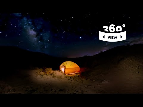 Anza Borrego Night Timelapse - Milky Way Camping - 360° VR experience