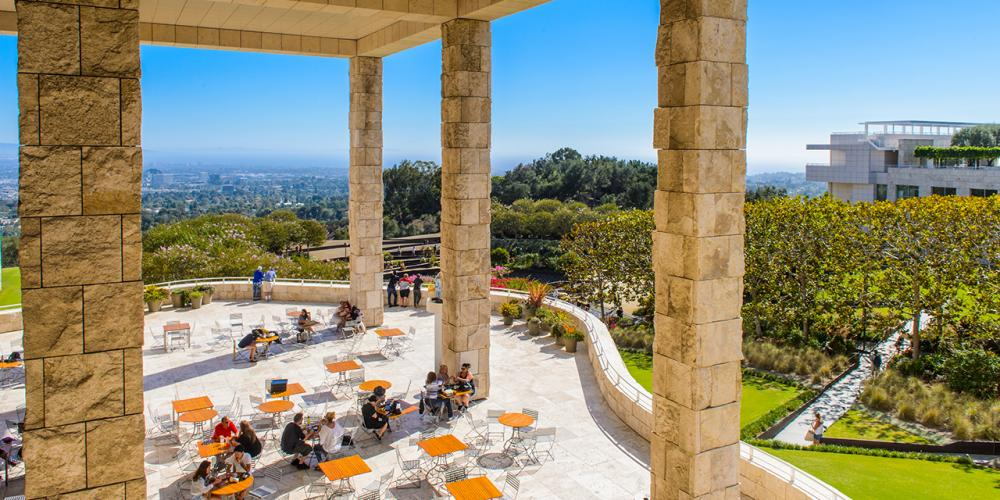 Dining at the Getty Center