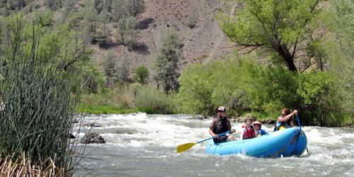 Rafting in Upper Cache Creek